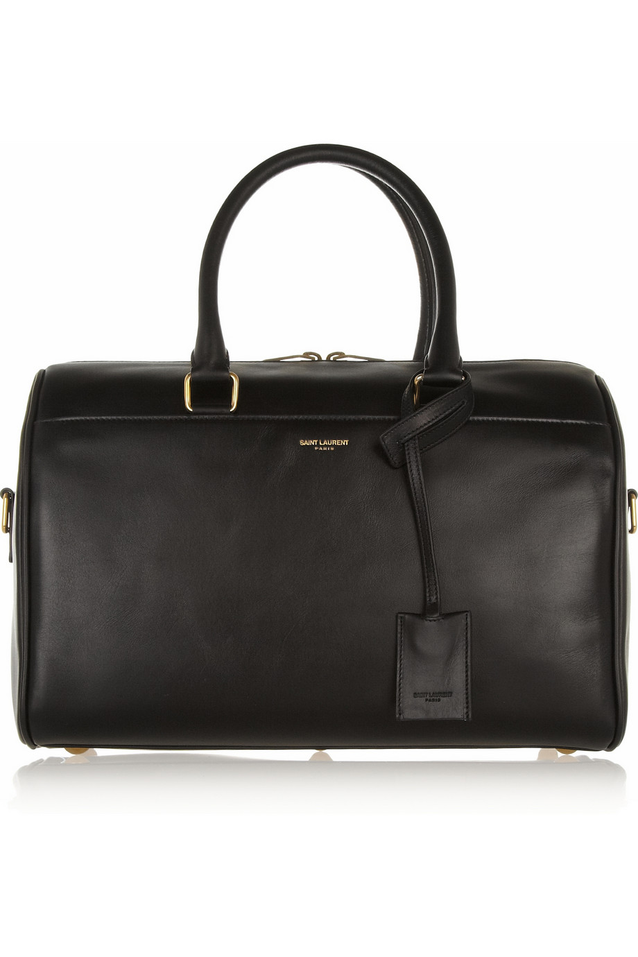 lyst saint laurent classic duffle 6 leather bag in black. Black Bedroom Furniture Sets. Home Design Ideas