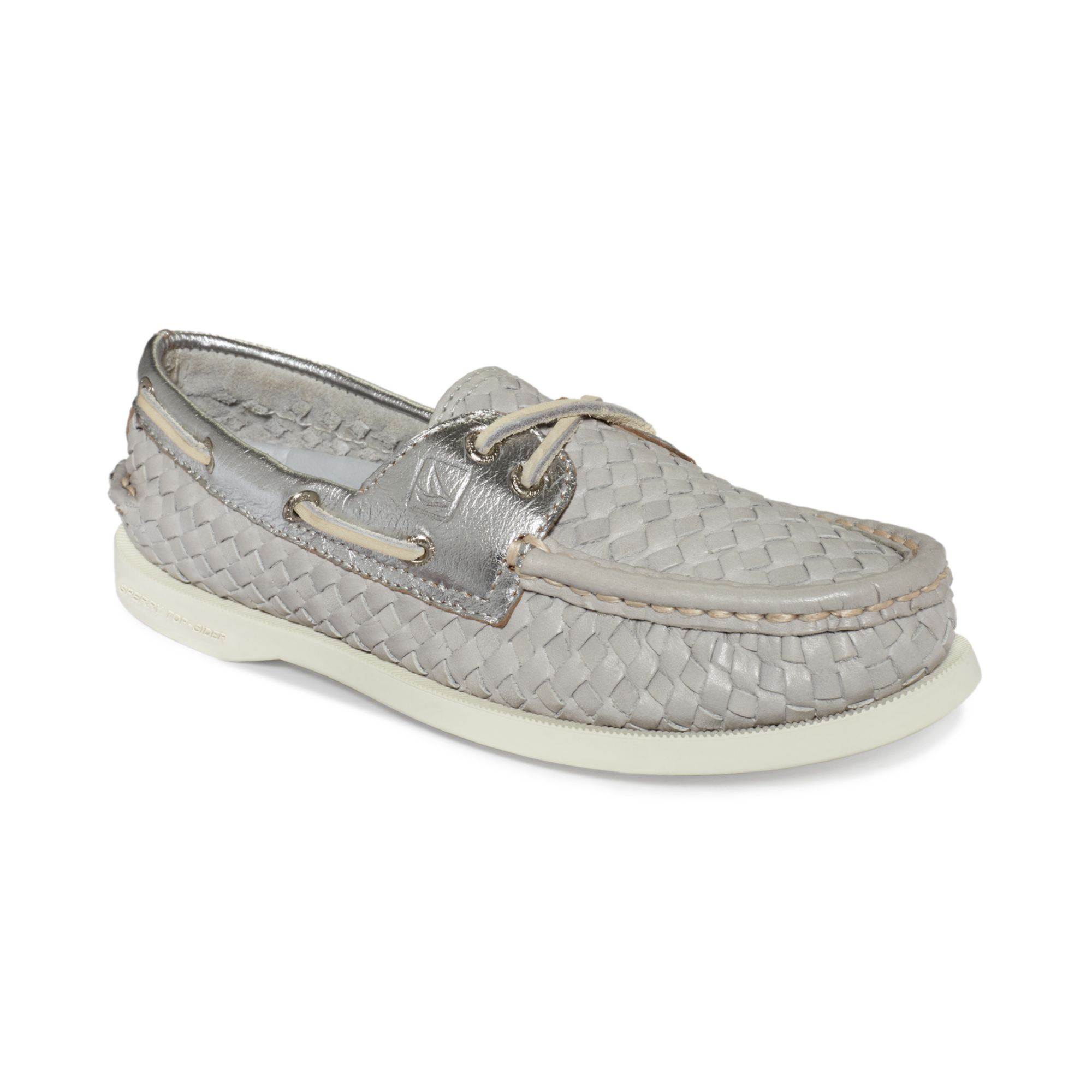 Gray Womens Sperry Boat Shoes