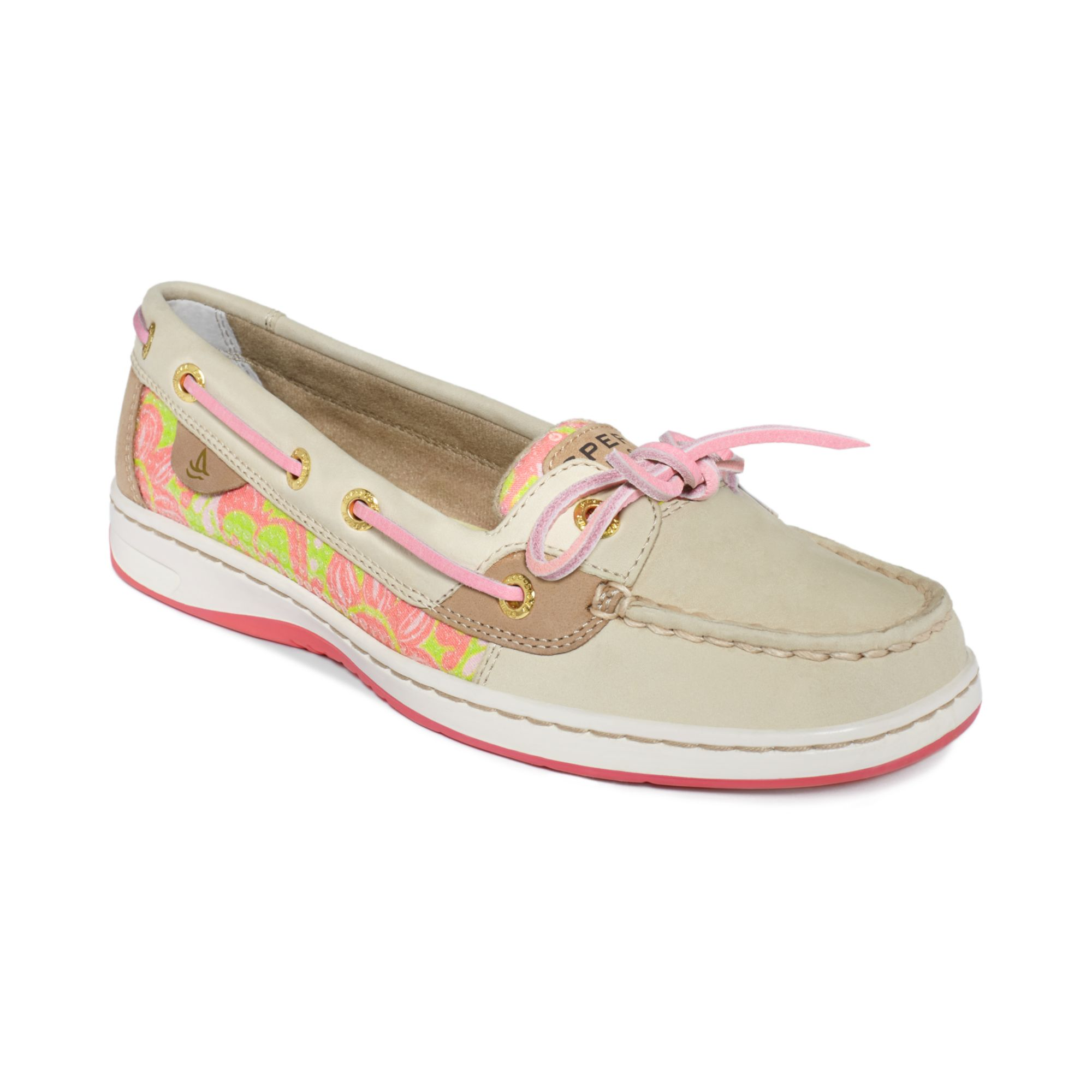 sperry top sider womens angelfish boat shoes in beige oat