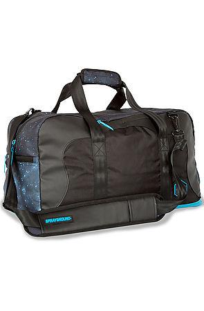 Sprayground The Gammaxy Laptop Duffel Bag In Black For Men
