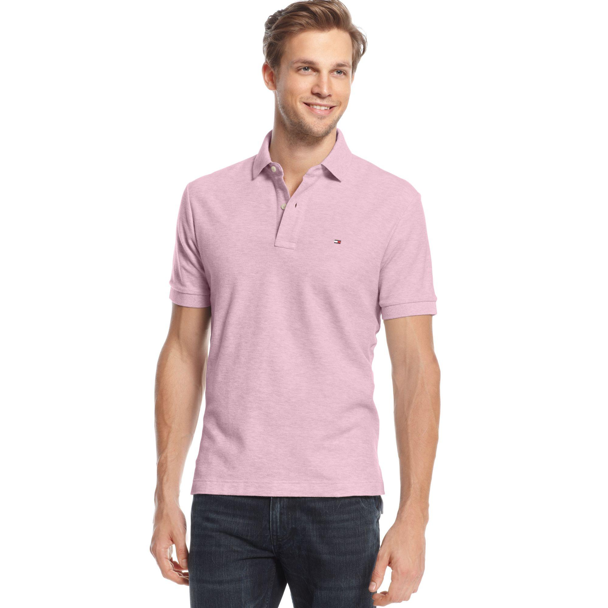 tommy hilfiger ivy short sleeve polo shirt in pink for men. Black Bedroom Furniture Sets. Home Design Ideas