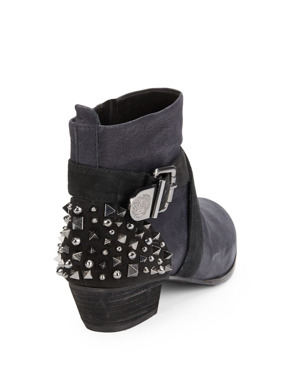 Vince Camuto Marcin Studded Ankle Boots In Gray Lyst