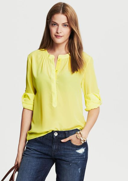 Yellow Blouse Banana Republic 13