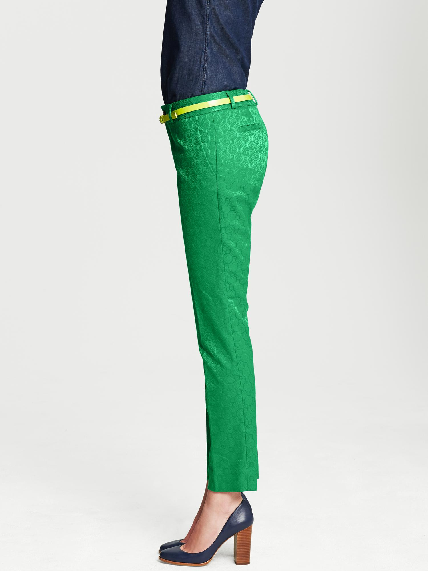 Lyst Banana Republic Camden Fit Emerald Medallion Print Ankle Pant Emerald In Green