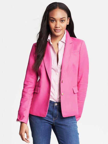 Banana Republic Gold Button Blazer Flirty Pink In Pink