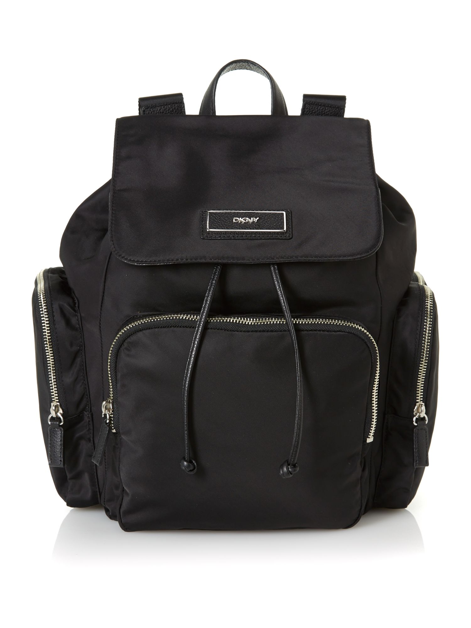 DKNY Black Large Tassel Backpack