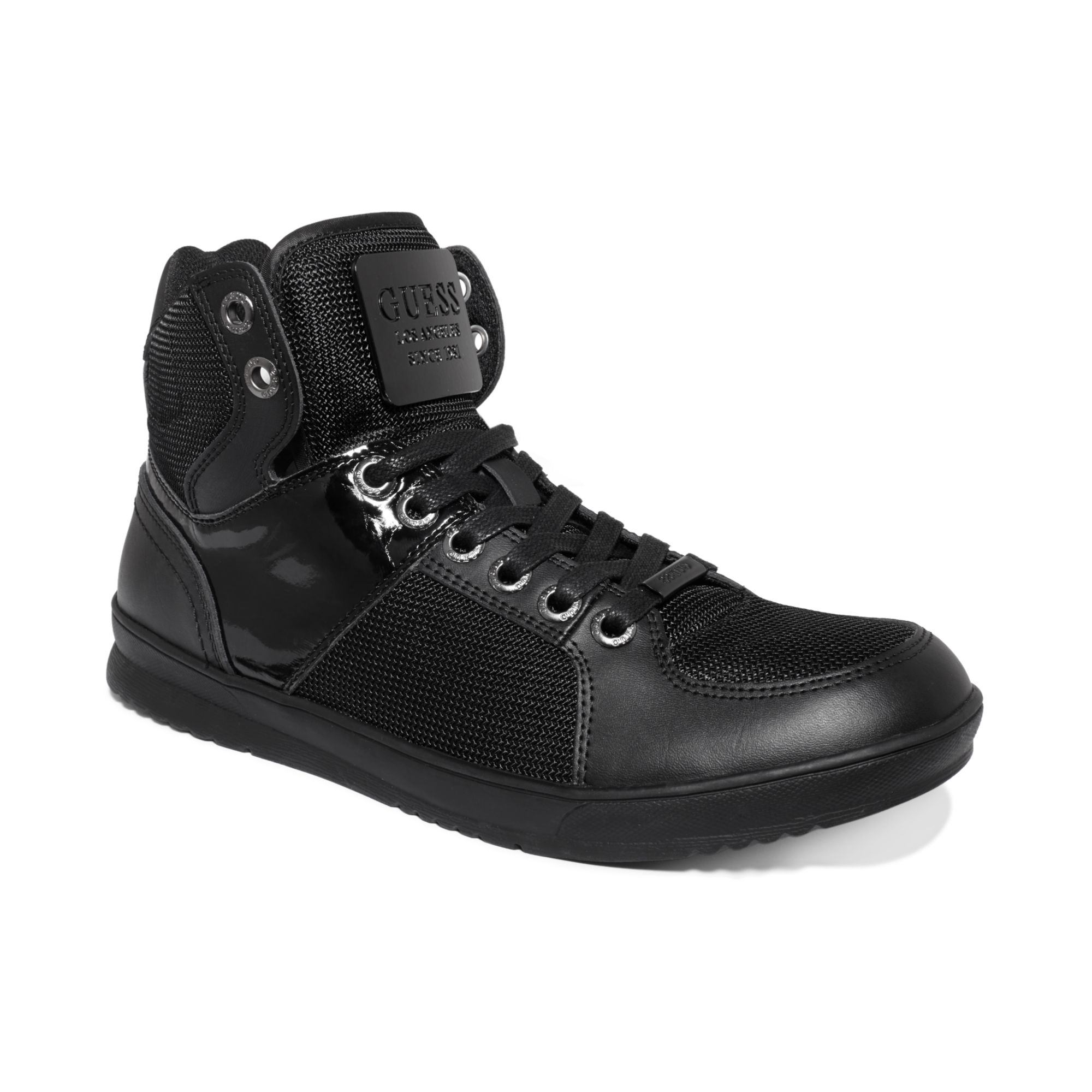 guess trippy5 sneakers in black for black 973 lyst