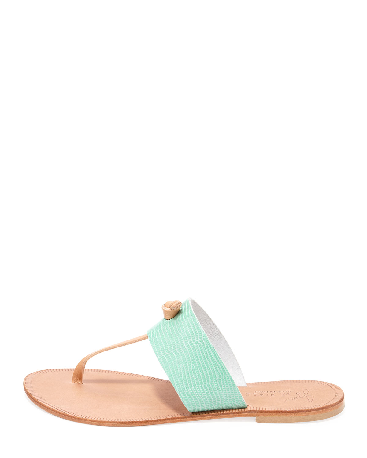 750f15500fb Lyst - Joie Nice Tstrap Thong Flat Sandal in Green