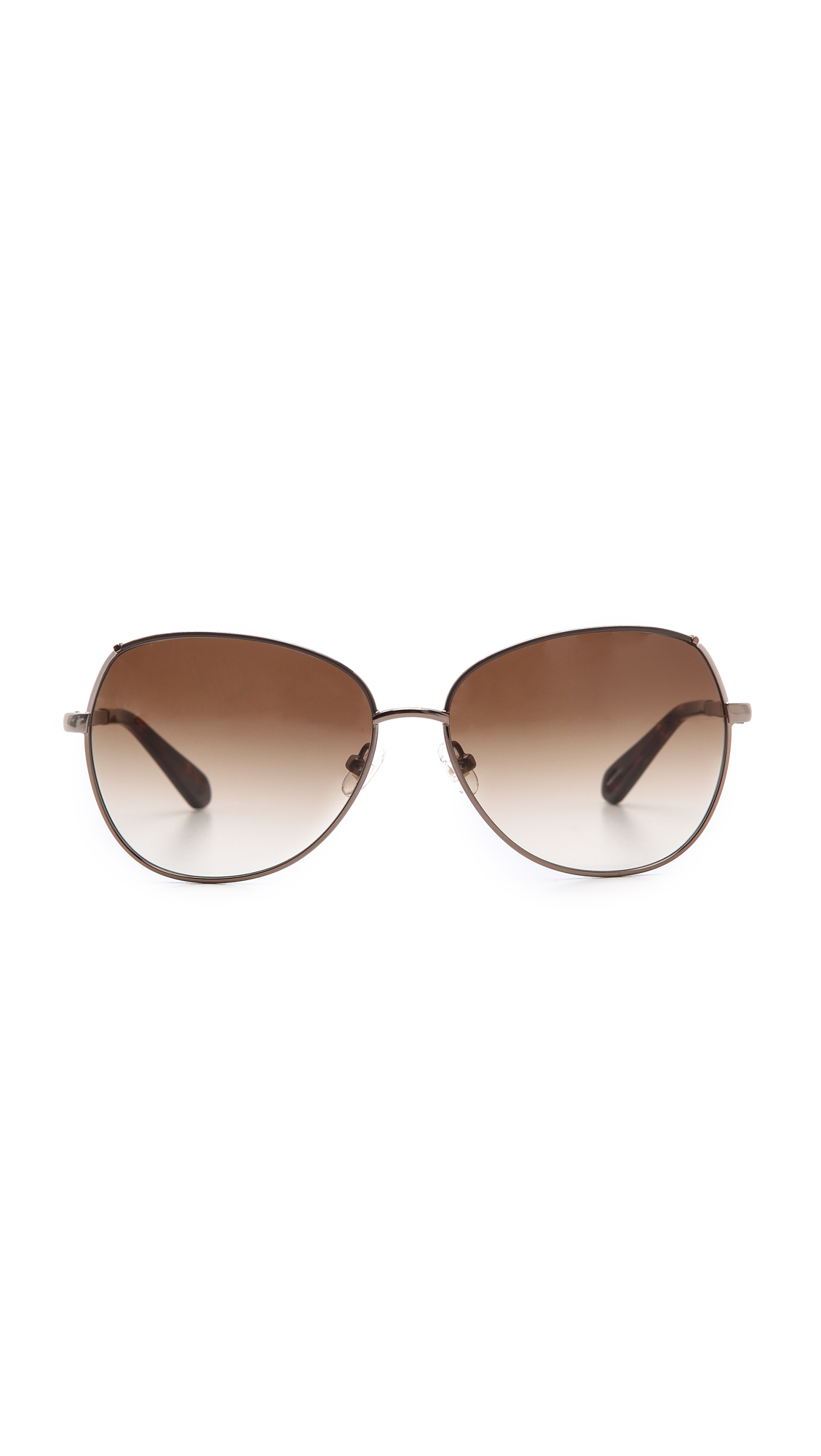 Kate Spade Candida Sunglasses in Almond Brown Cream/Brown (Brown)