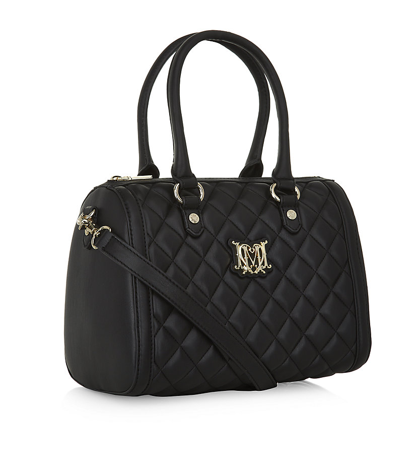 love moschino quilted bowling bag in black lyst. Black Bedroom Furniture Sets. Home Design Ideas