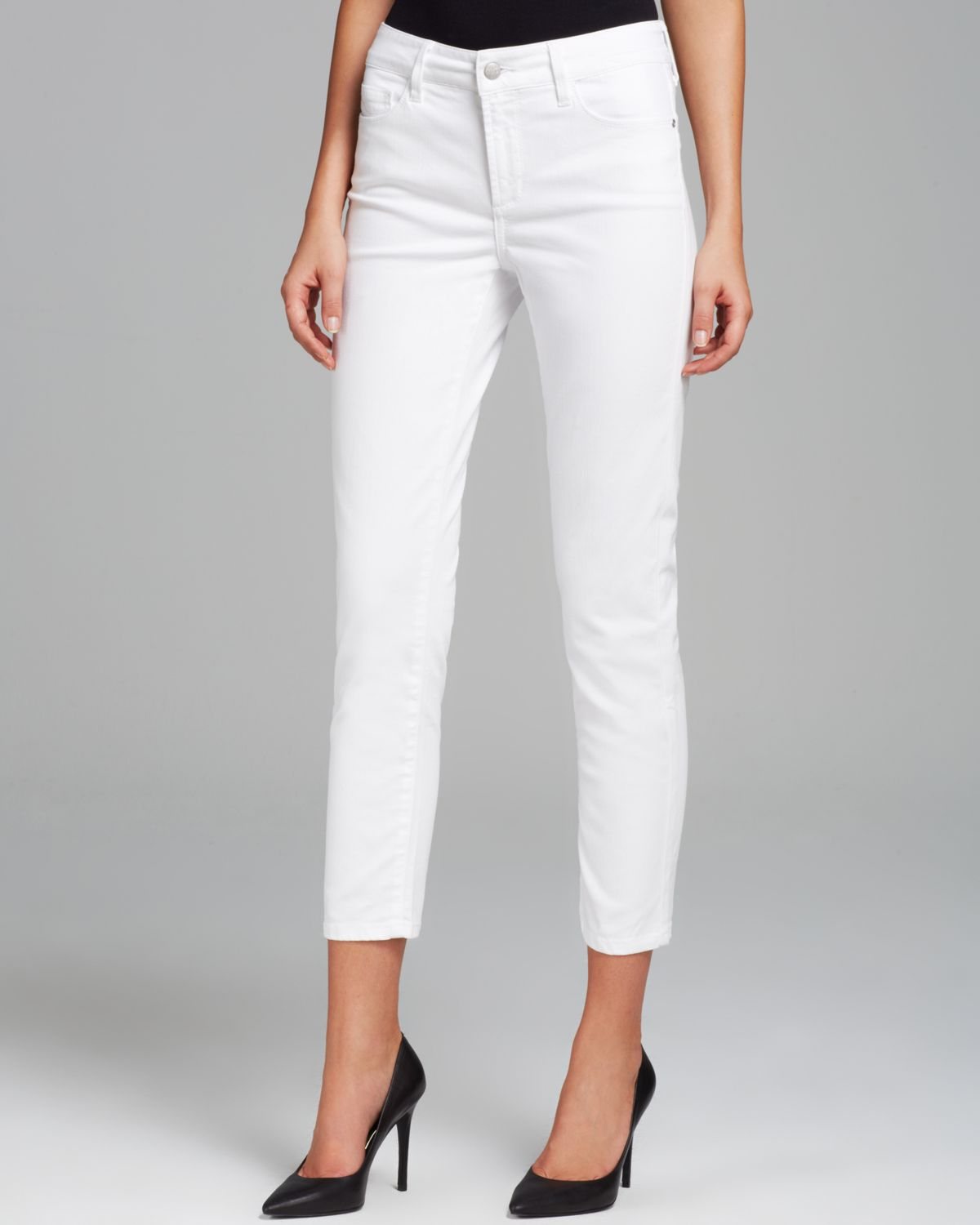 Nydj Alisha Fitted Ankle Jeans in White | Lyst