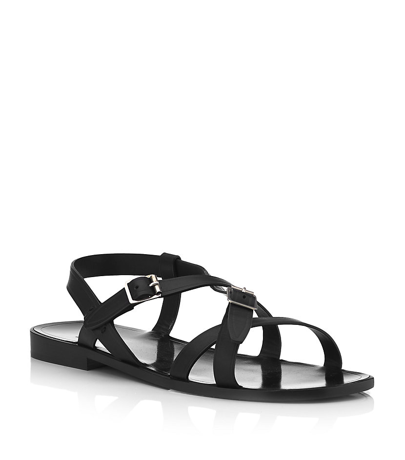 Saint Laurent Cross over strap sandals TCiWw