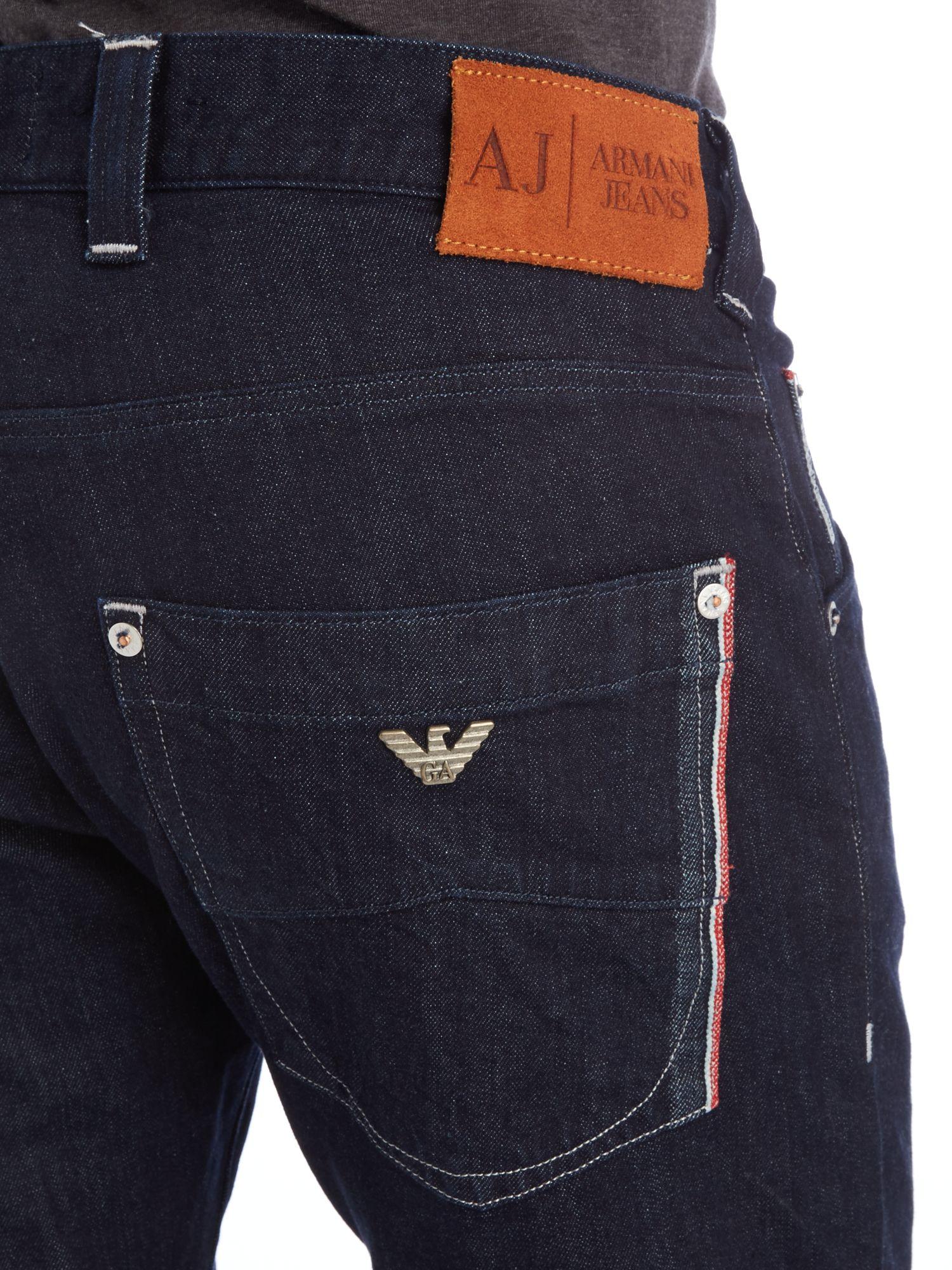Armani Jeans J08 Regular Slim Fit Pocket Detail In Black
