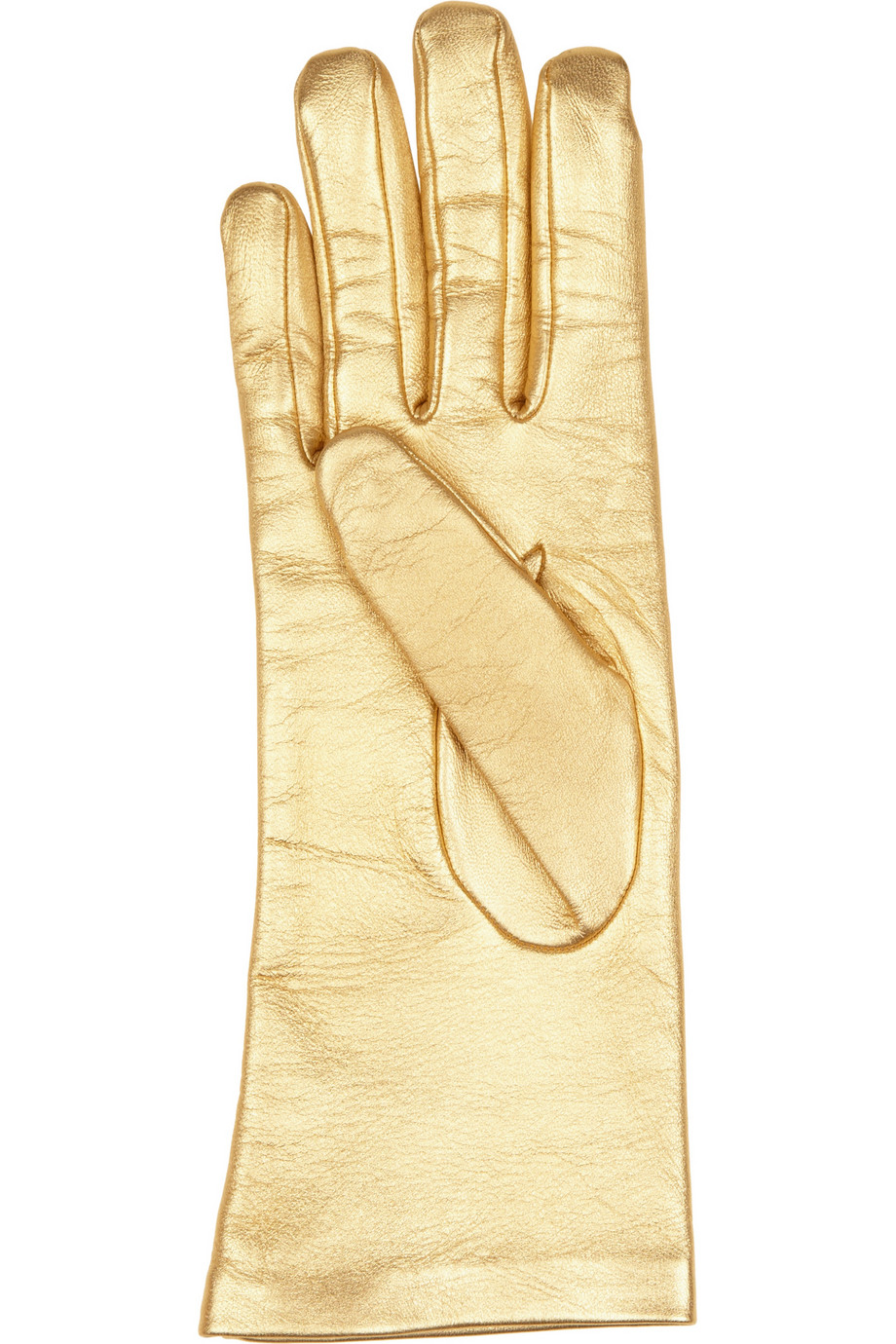 Causse Gantier Jackie Metallic Leather Gloves In Metallic
