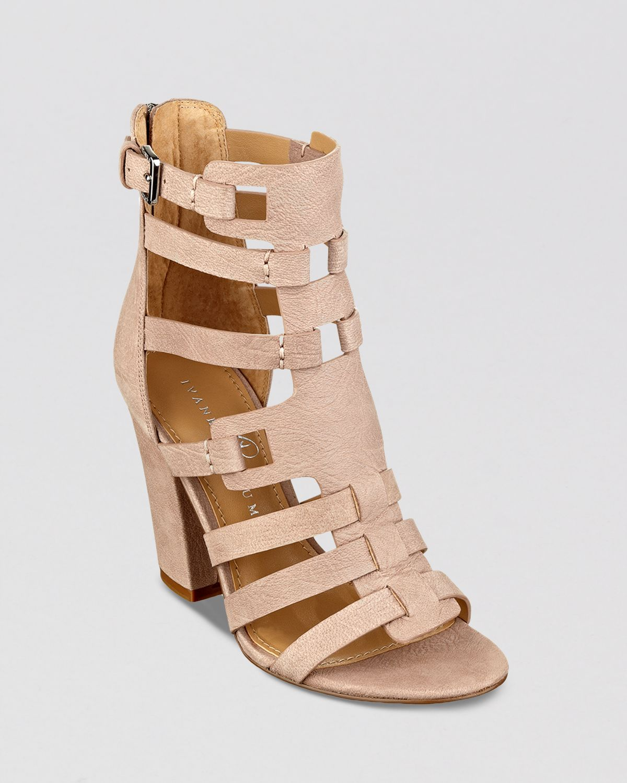 a74c3095bc Ivanka Trump Gladiator Sandals Elston High Heel in Natural - Lyst