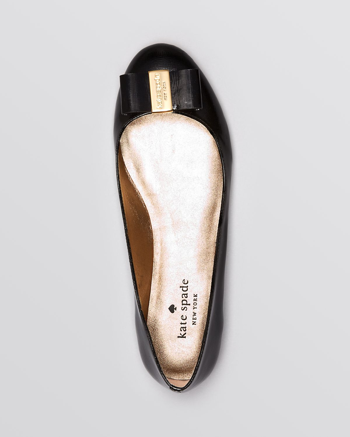 f88a5dc61be Lyst - Kate Spade Ballet Flats Thyme Bow in Black