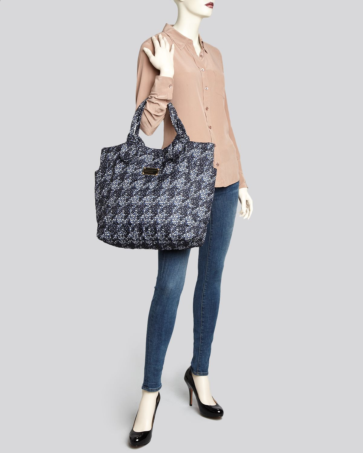 Marc By Marc Jacobs Tote Pretty Nylon Jacquard Medium Tate in Blue