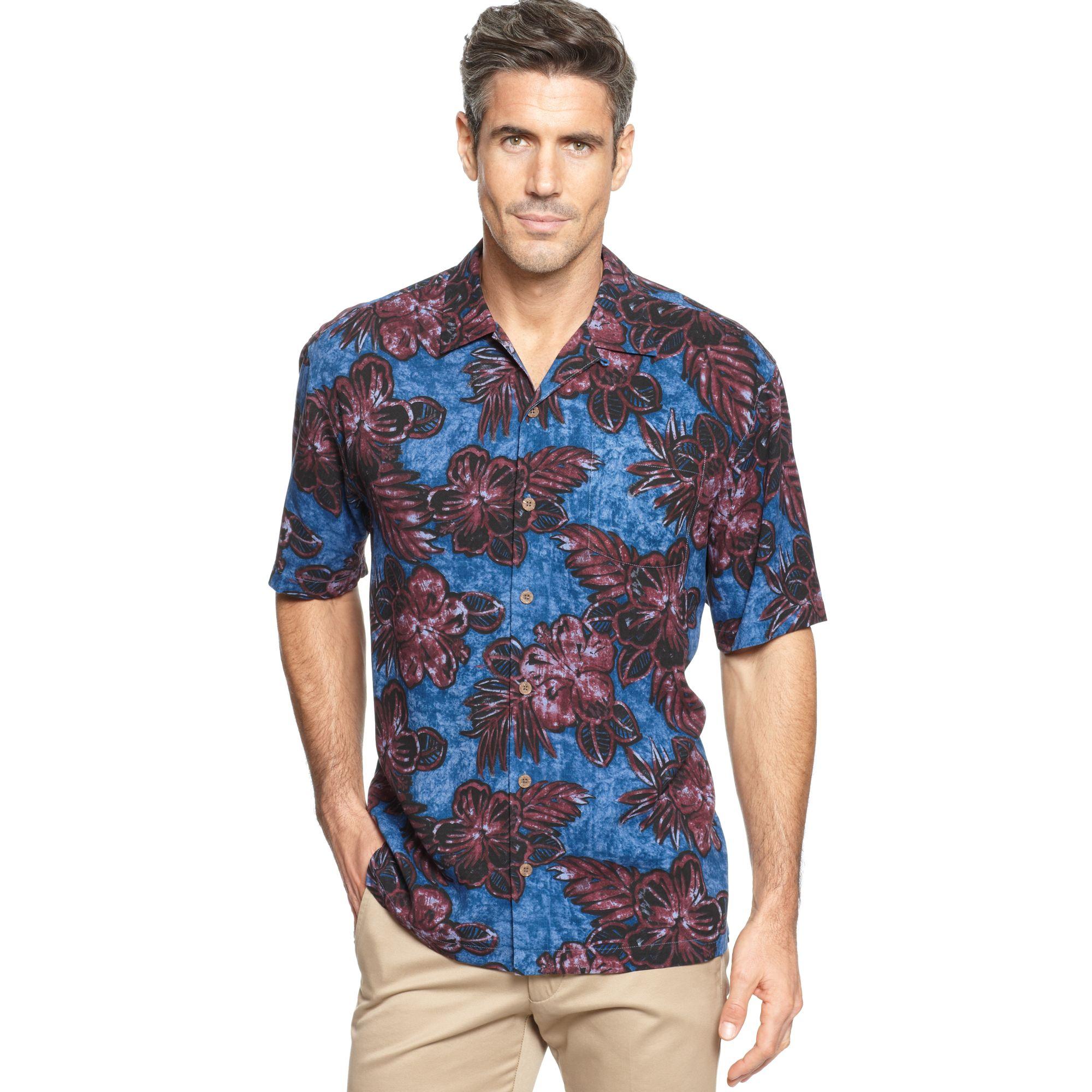 Tommy Bahama Barcelona Batik Short Sleeve Shirt In