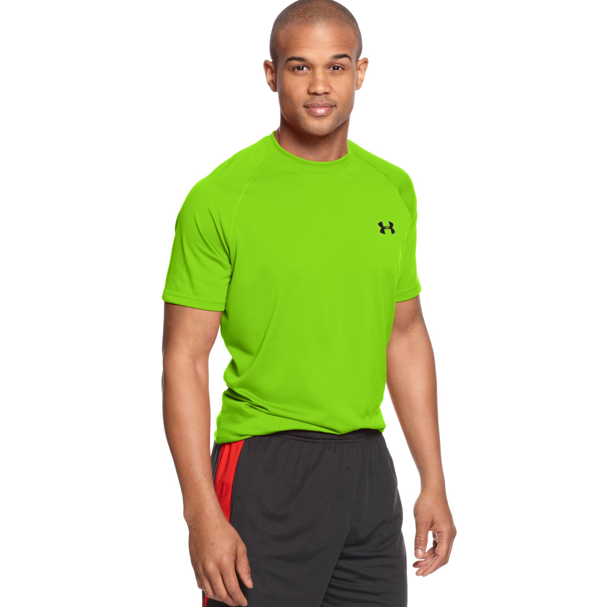 Under Armour 2015 Mens Ua Renegade Training Gloves Support: Under Armour Tech Short Sleeve Tshirt In Green For Men