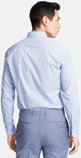 Z Zegna Slim Fit Dress Shirt In Blue For Men Bright Blue