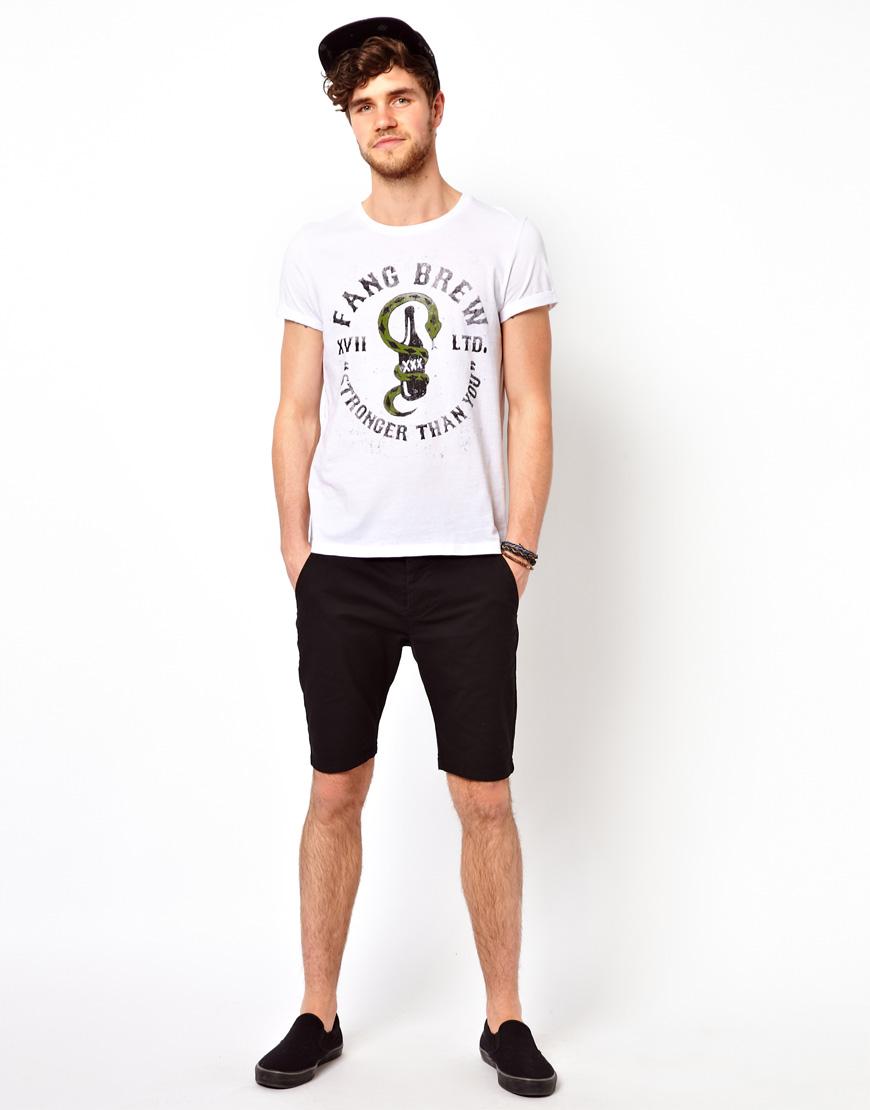 Asos Skinny Chino Shorts In Black in Black for Men - Save 20%   Lyst
