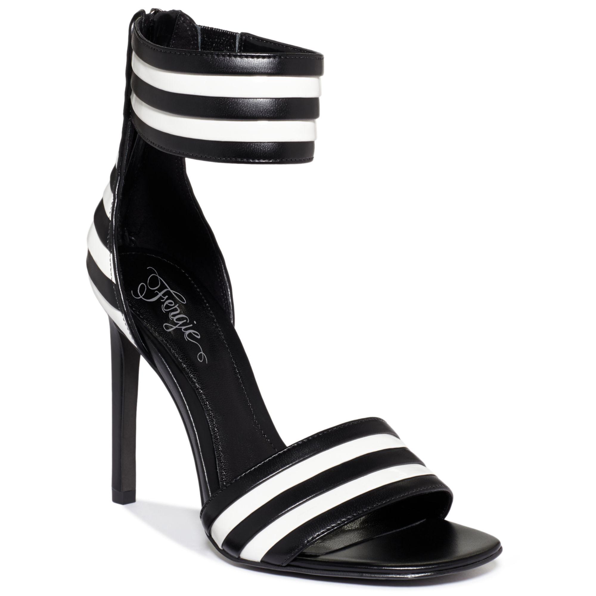 Lyst Fergie Torcha Two Piece Dress Sandals In Black