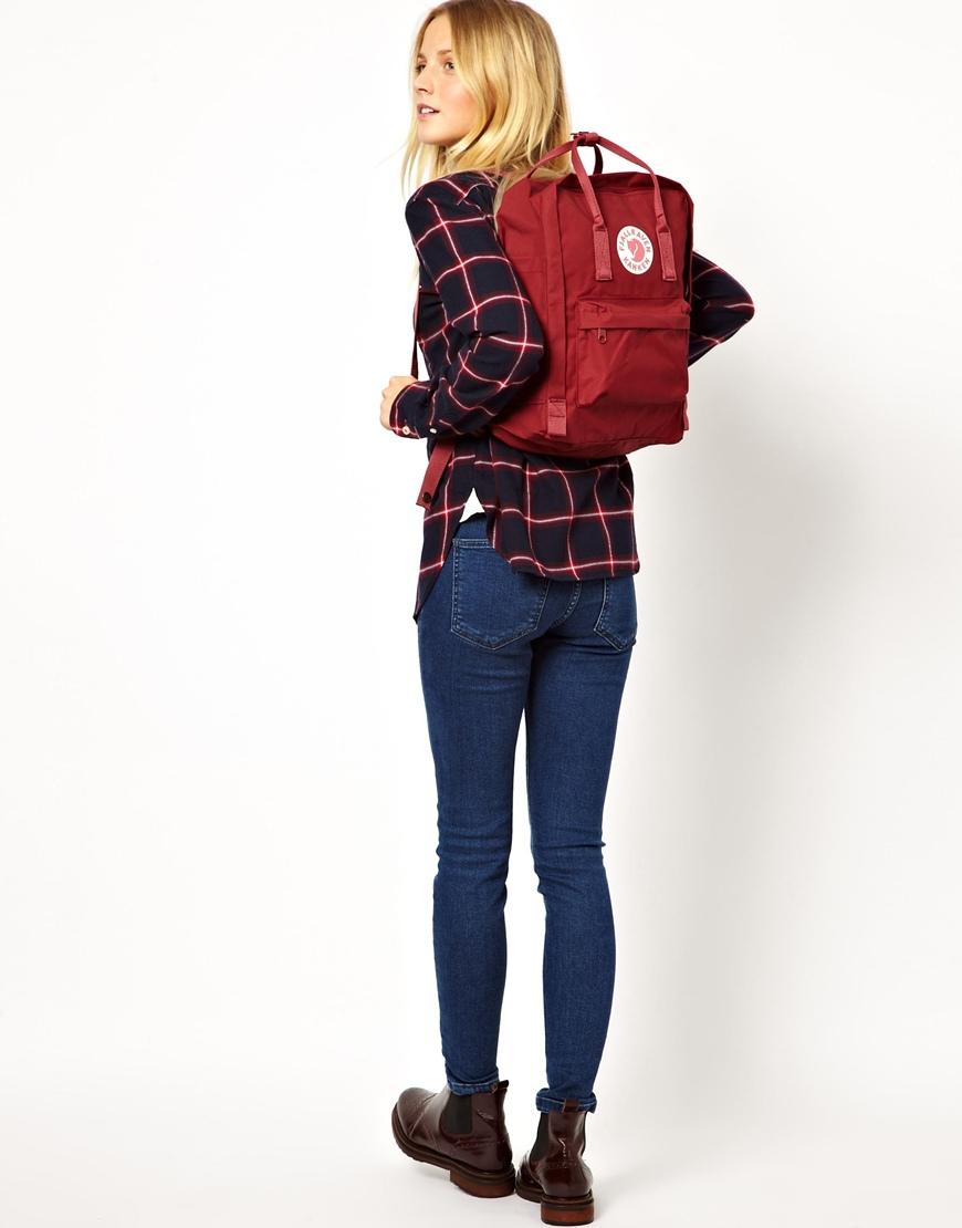 fjallraven kanken daypack black/ox red