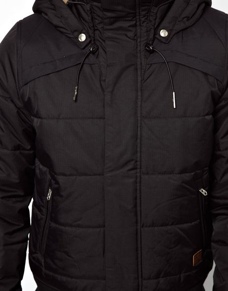 g star raw quilted bomber jacket whistler nylon hooded in. Black Bedroom Furniture Sets. Home Design Ideas