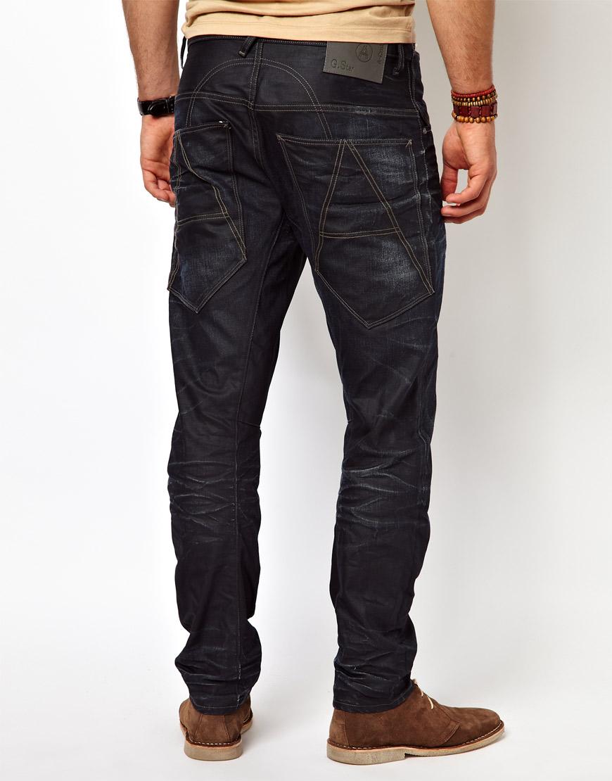 g star raw g star jeans a crotch tapered condor denim dark aged in black for men dkaged lyst. Black Bedroom Furniture Sets. Home Design Ideas