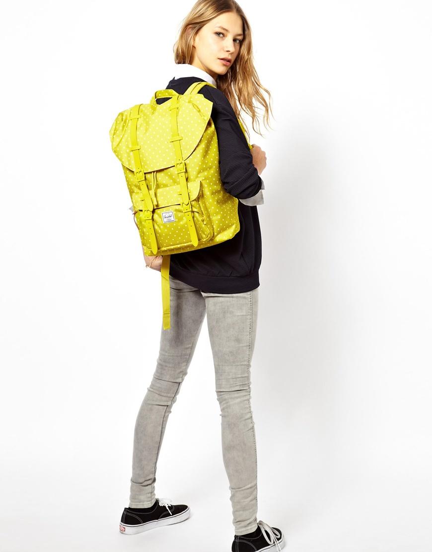 033b8232796d Lyst - Herschel Supply Co. Little America Backpack Mid Volume in Yellow