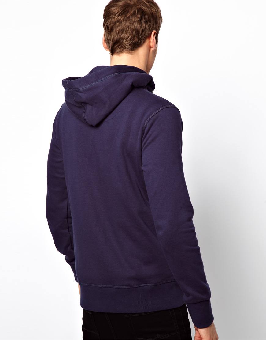 jack jones hoodie in purple for men lyst. Black Bedroom Furniture Sets. Home Design Ideas