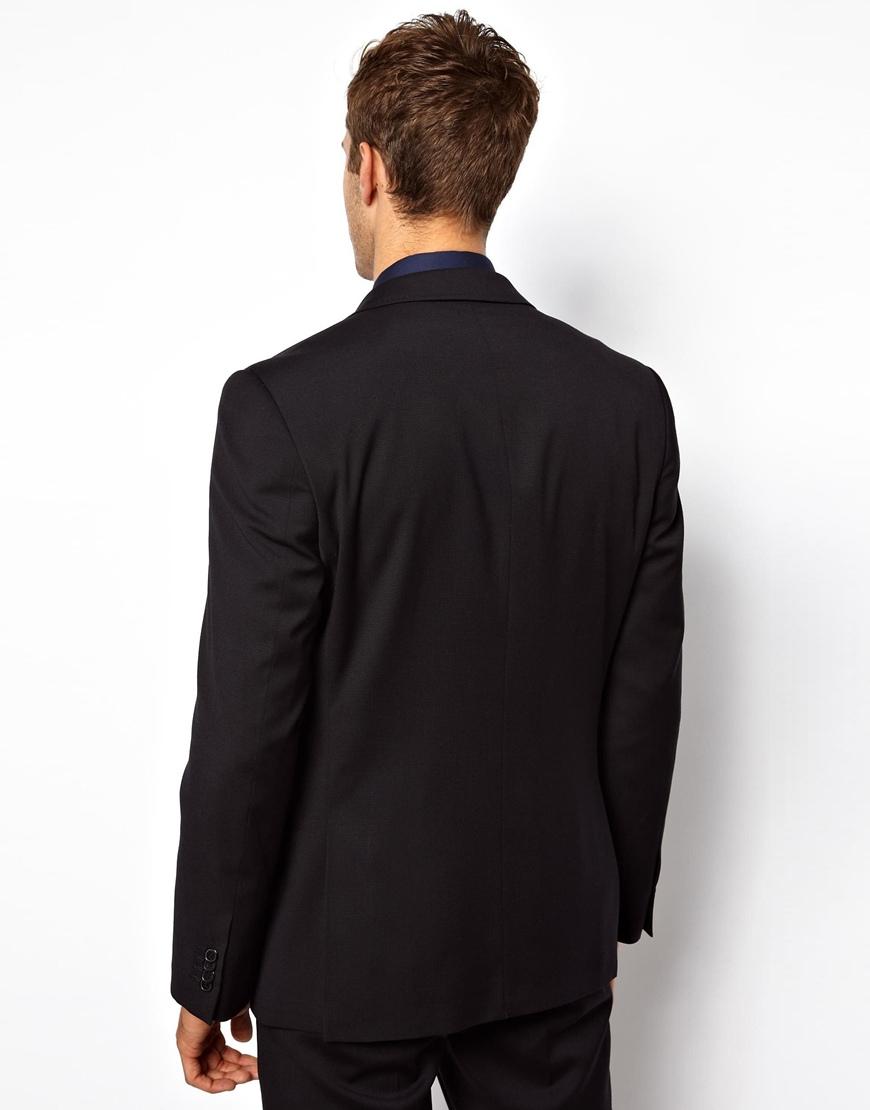 Lyst Lambretta Suit Jacket With Contrast Trim In Blue