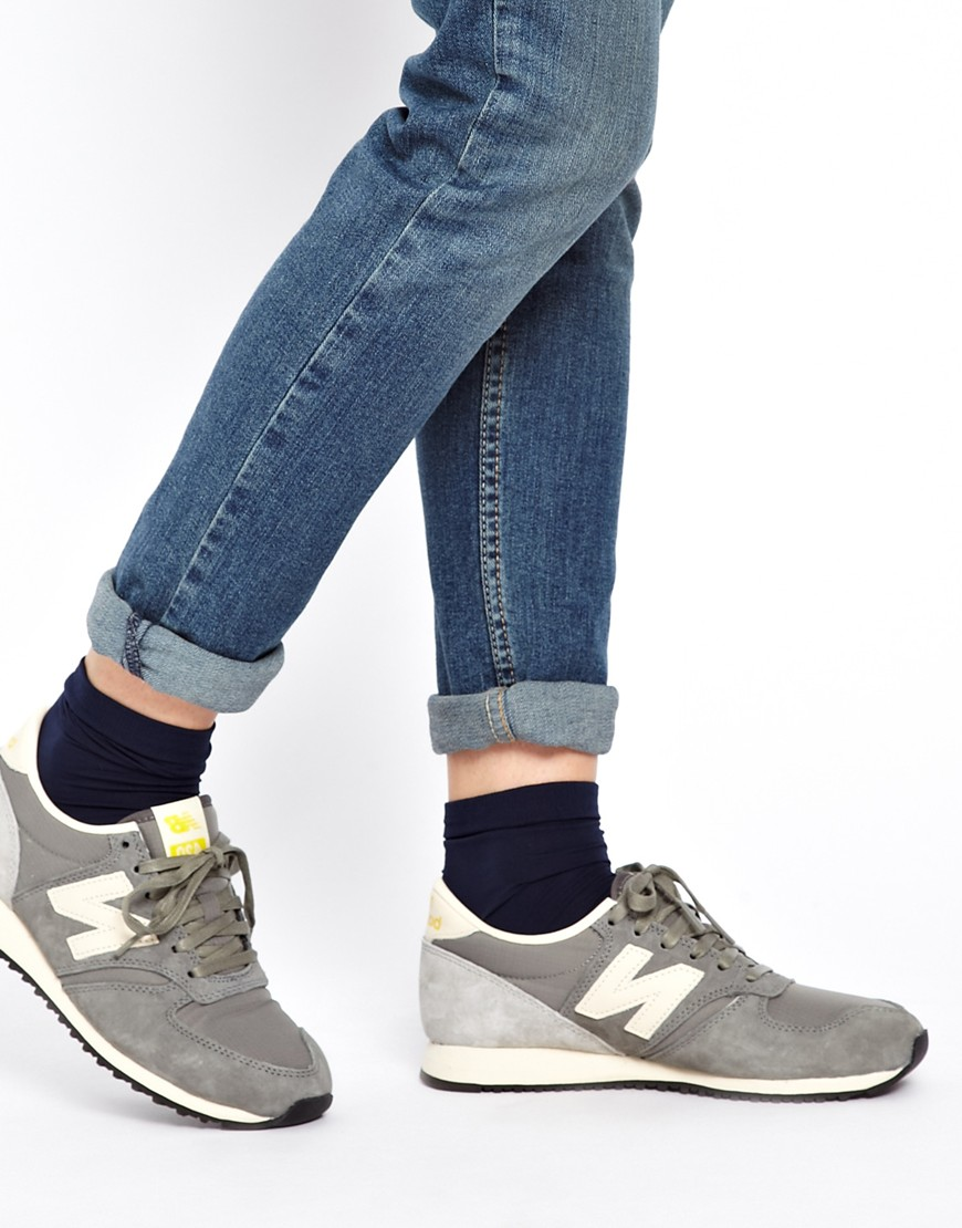 New Balance 420 Grey Vintage Trainers in Gray - Lyst