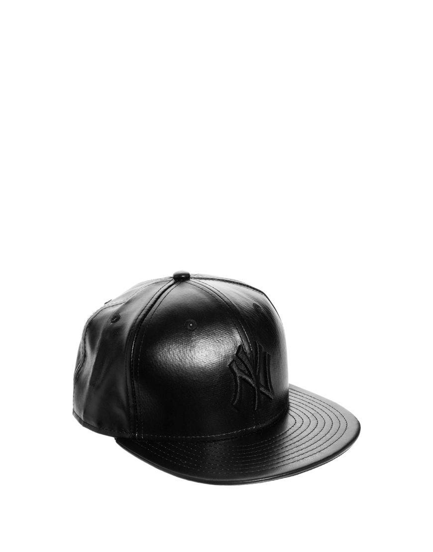 96f6c221a3a get lyst ktz new york yankees leather tone snapback cap in black ddd2e c96ba