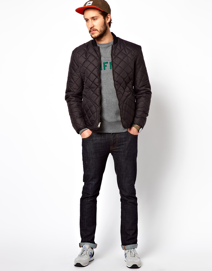 Penfield Landrum Quilted Bomber Jacket in Black for Men | Lyst