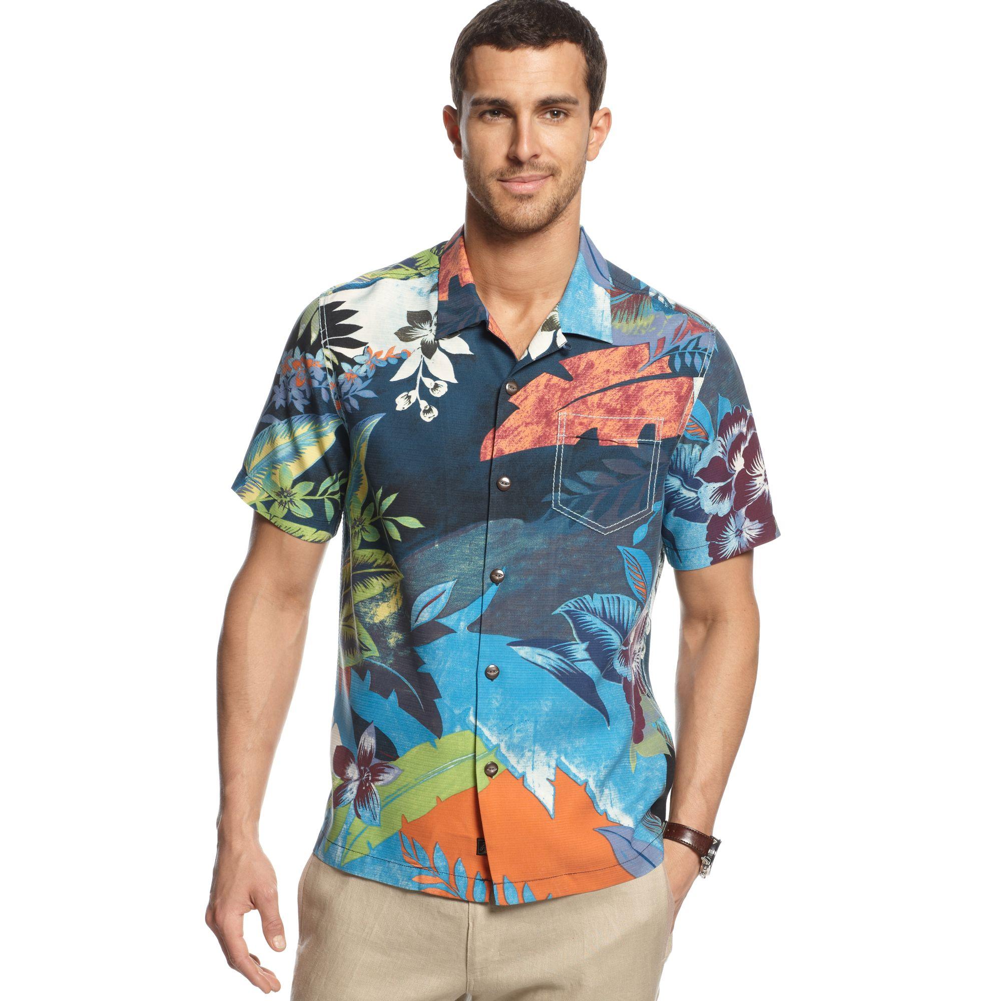 Tommy Bahama Mediterranean Blooms Short Sleeve Shirt In