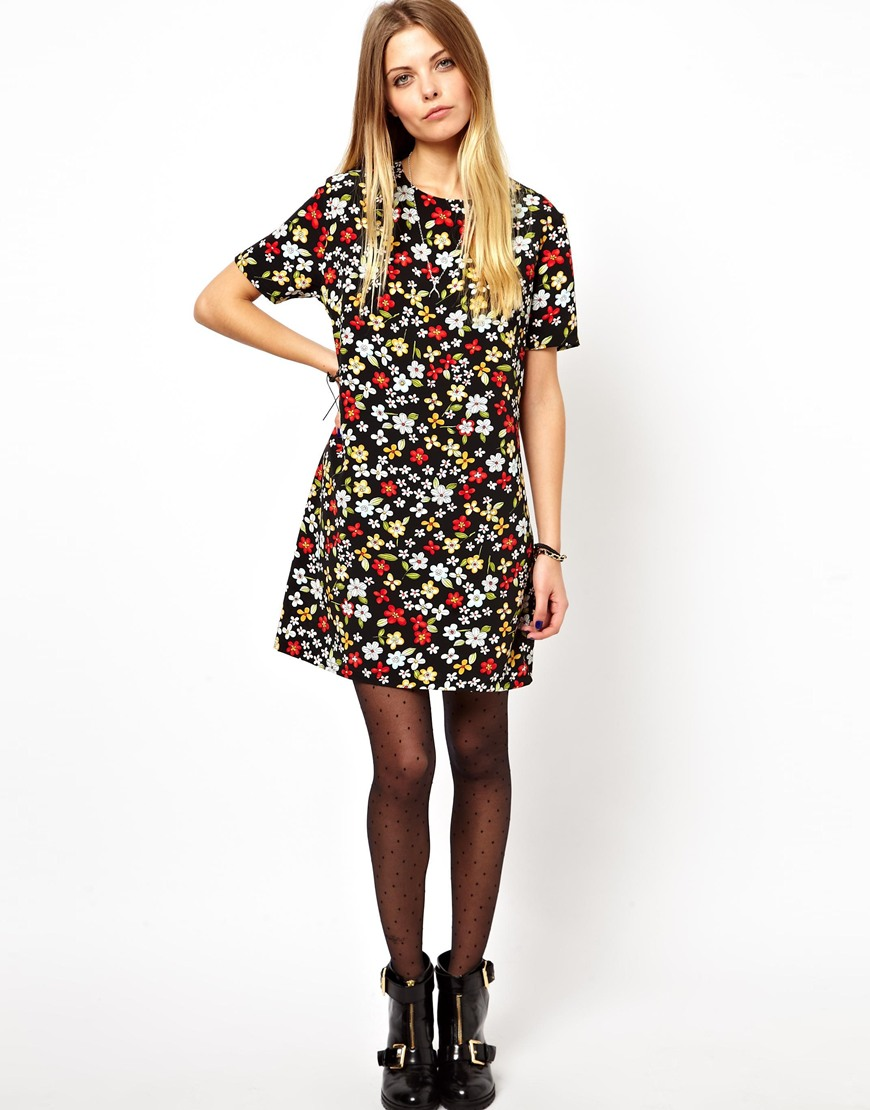 60s floral print dresses