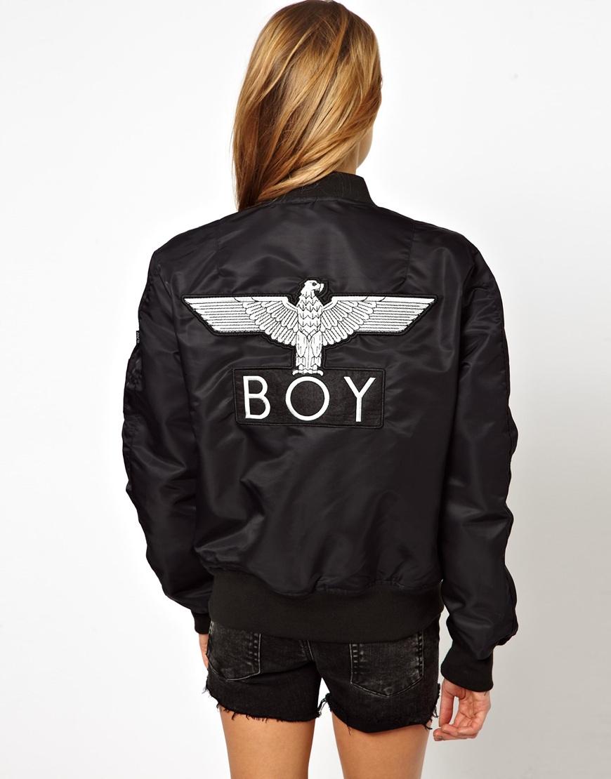 Boy london Printed Reversible Bomber Jacket in Black | Lyst