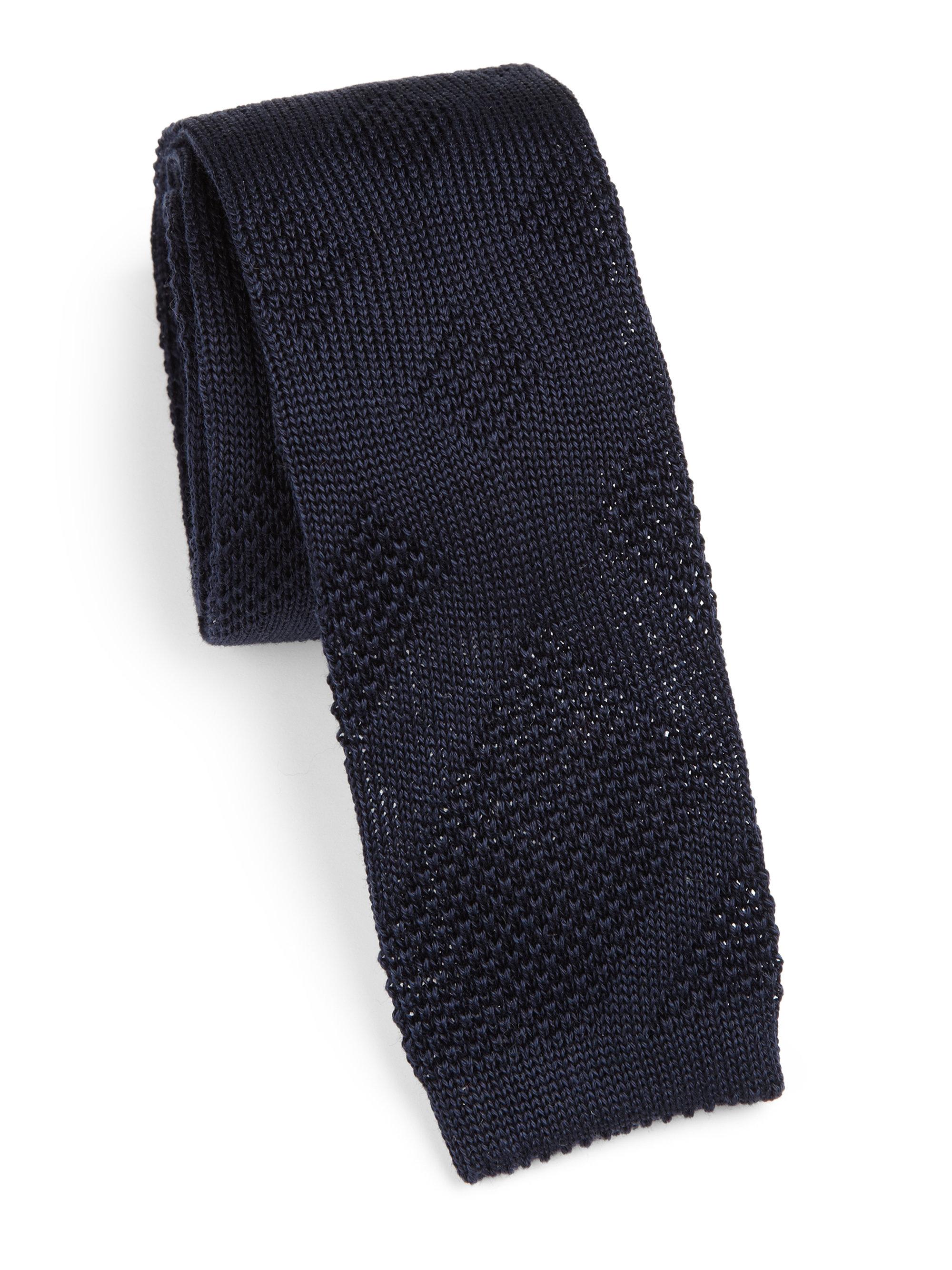 07448854c2c7 Burberry Kenneth Silk Knit Tie in Blue for Men - Lyst