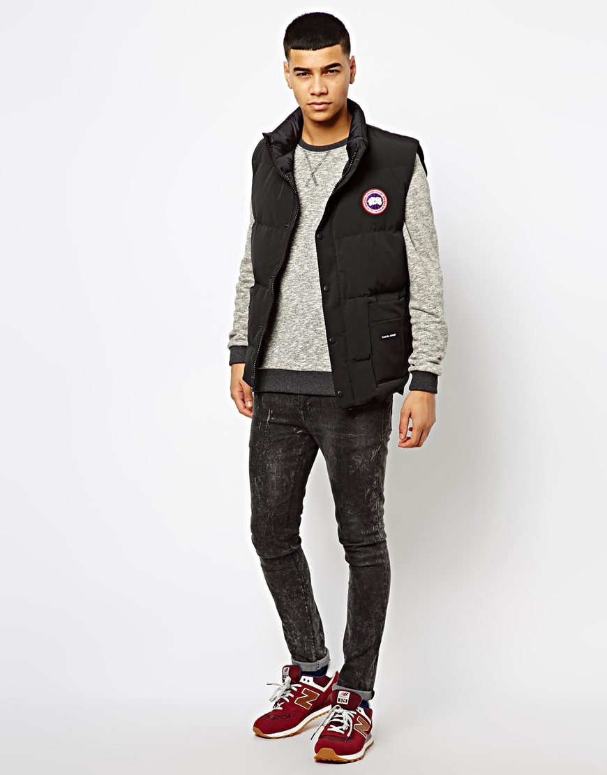 Lyst Canada Goose Freestyle Gilet In Black For Men