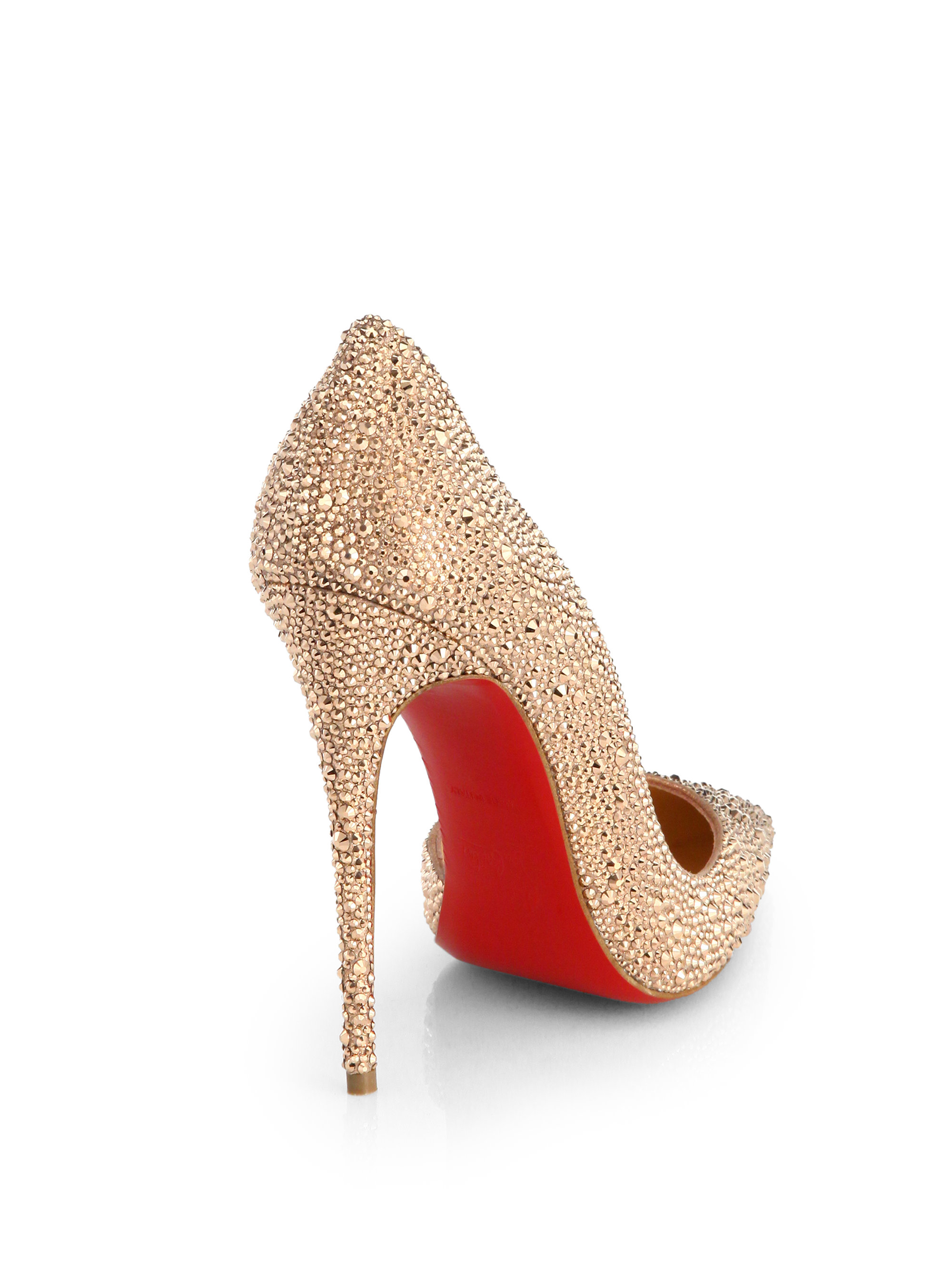Lyst Christian Louboutin Iriza Strass Crystal Pumps In
