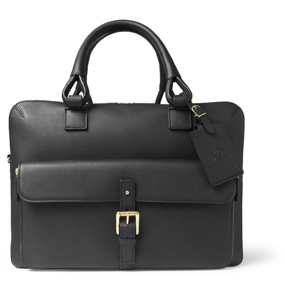 Lyst Dunhill Bladon Leather Holdall Bag In Black For Men