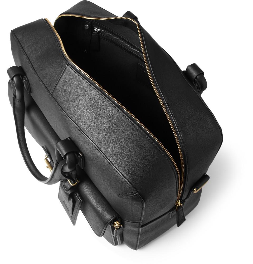 Dunhill Bladon Leather Holdall Bag In Black For Men Lyst