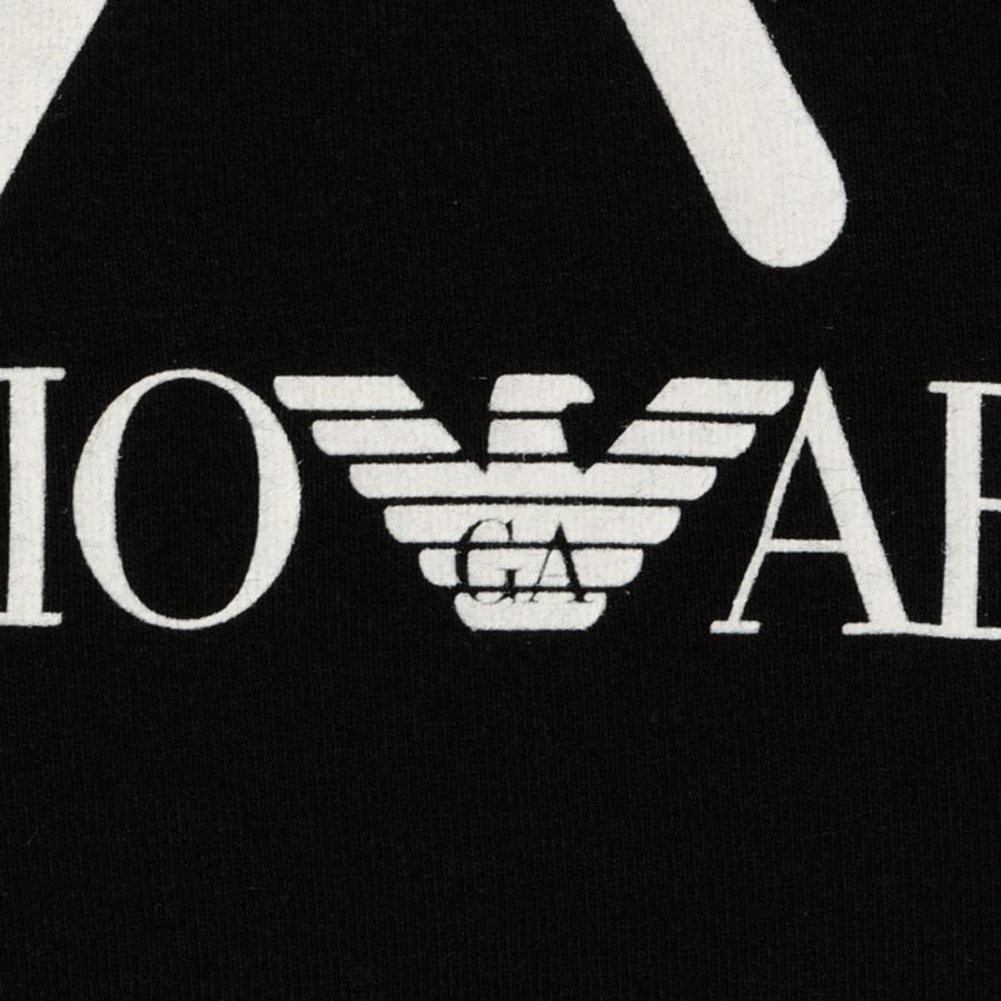 Emporio armani train big logo t shirt in black for men lyst - Emporio giorgio armani logo ...