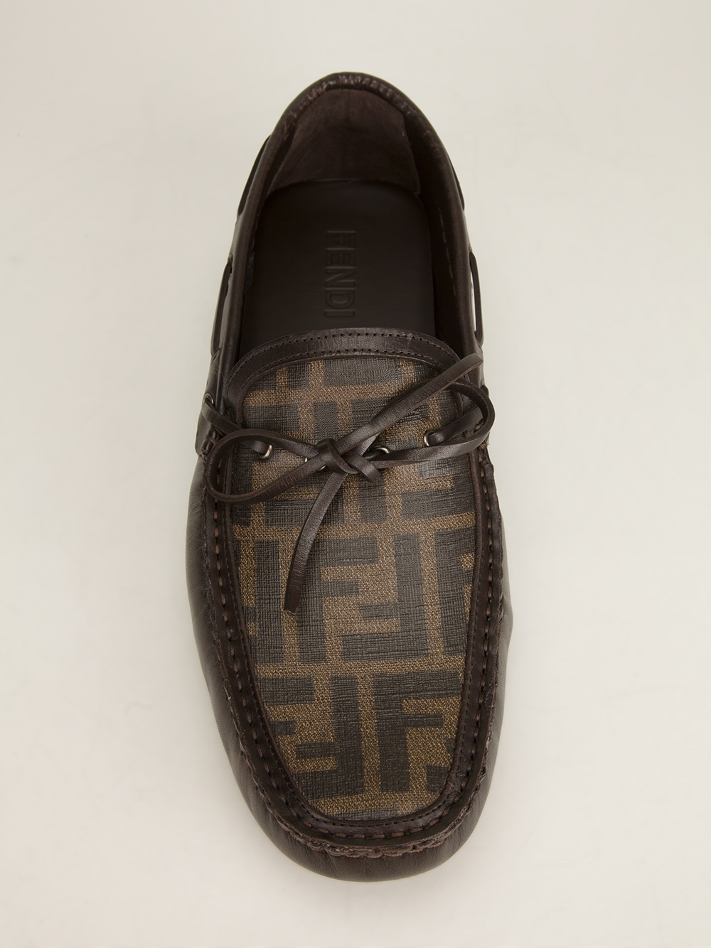 Fendi Bow Detail Driving Shoe In Brown For Men Lyst