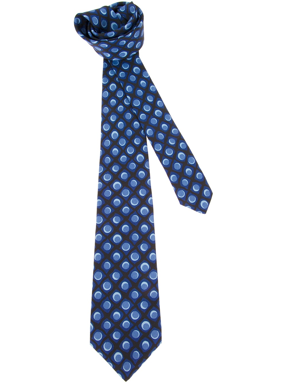 kiton patterned tie in blue for lyst