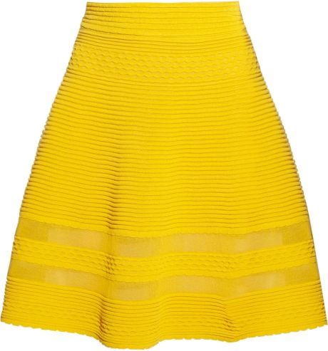M Missoni Cottonblend Aline Skirt in Yellow