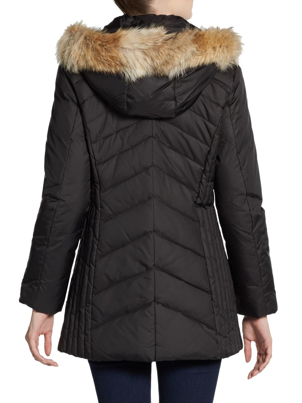 Marc New York Madison Furtrimmed Hooded Down Puffer Jacket