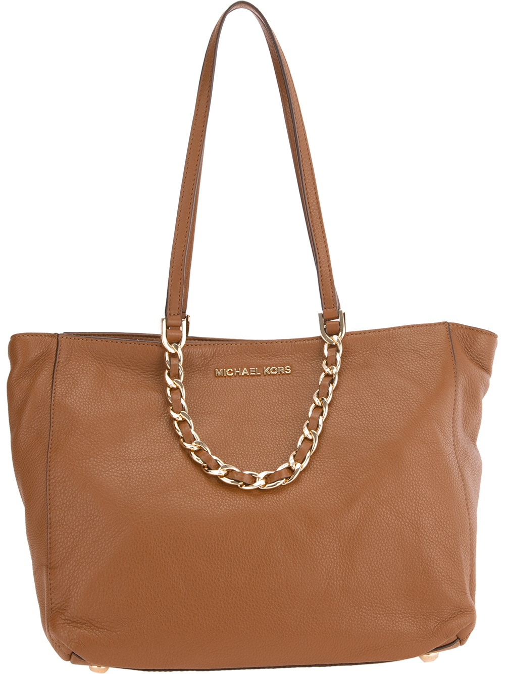 michael michael kors harper shopper tote in brown lyst. Black Bedroom Furniture Sets. Home Design Ideas