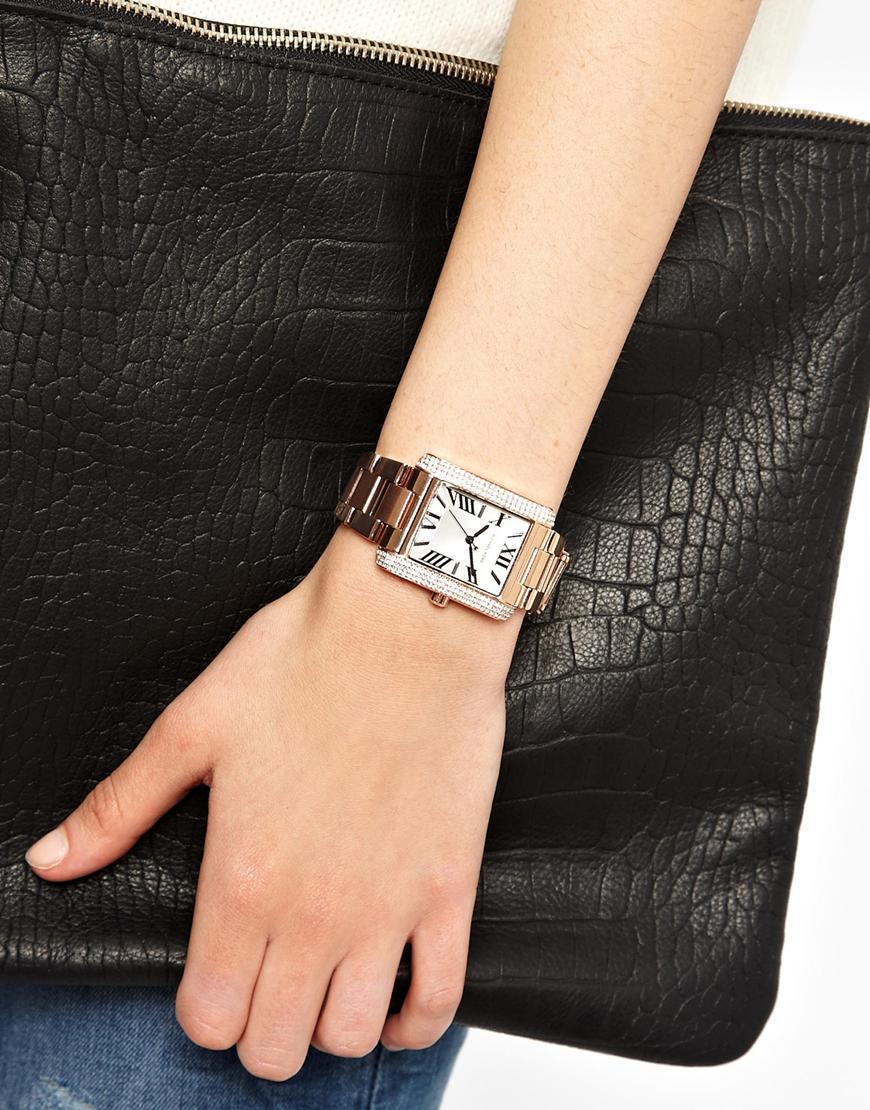 42b32f6b5056 Lyst - Michael Kors Emery Rose Gold Watch in Metallic